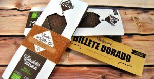 Chocolates Artesanos Isabel, billete dorado