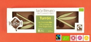 Turrón BIO, Fairtrade, Sin Gluten.