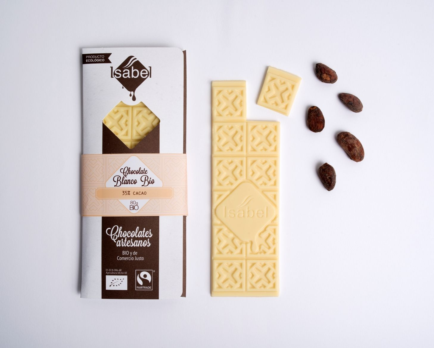 Tableta de chocolate blanco 35% cacao