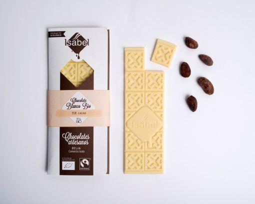 Tableta Chocolate Blanco 35% Cacao BIO y ECO