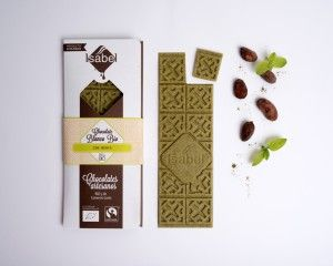 Chocolate Blanco ecológico con menta