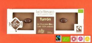 TURRÓN Trufa de CAFÉ. Turrón Artesano, Ecológico y Comercio Justo.