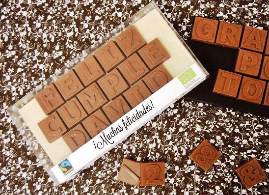Mensaje de chocolate personalizado