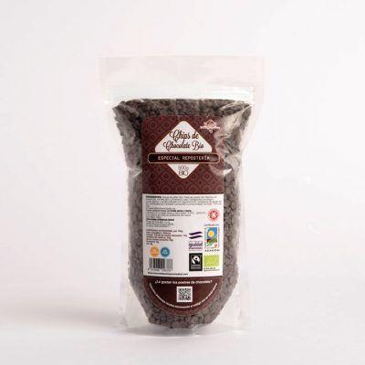 Gotitas de chocolate ecológico