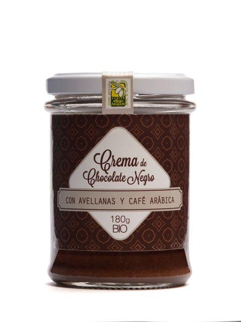 Crema Chocolate Ecológico Chocolate Negro con Avellanas y Café BIO