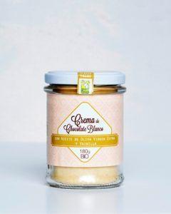 Crema de Chocolate ecológico Blanco Aceite Oliva Vainilla