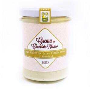 Crema Chocolate Blanco con Vainilla y AOVE, ECO BIO