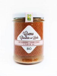 Crema Chocolate con Leche con Almendras y Flor de Sa