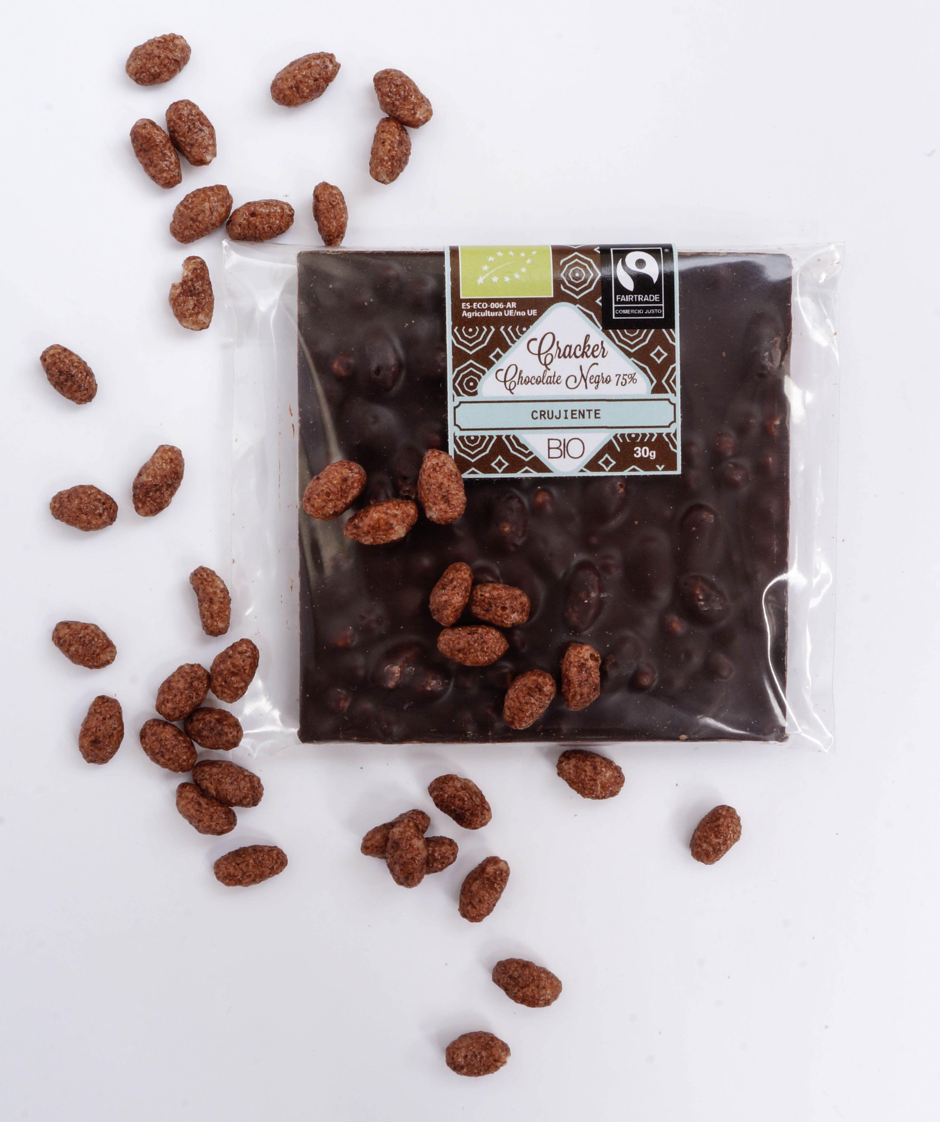Cracker BIO de Chocolate Negro Crujiente