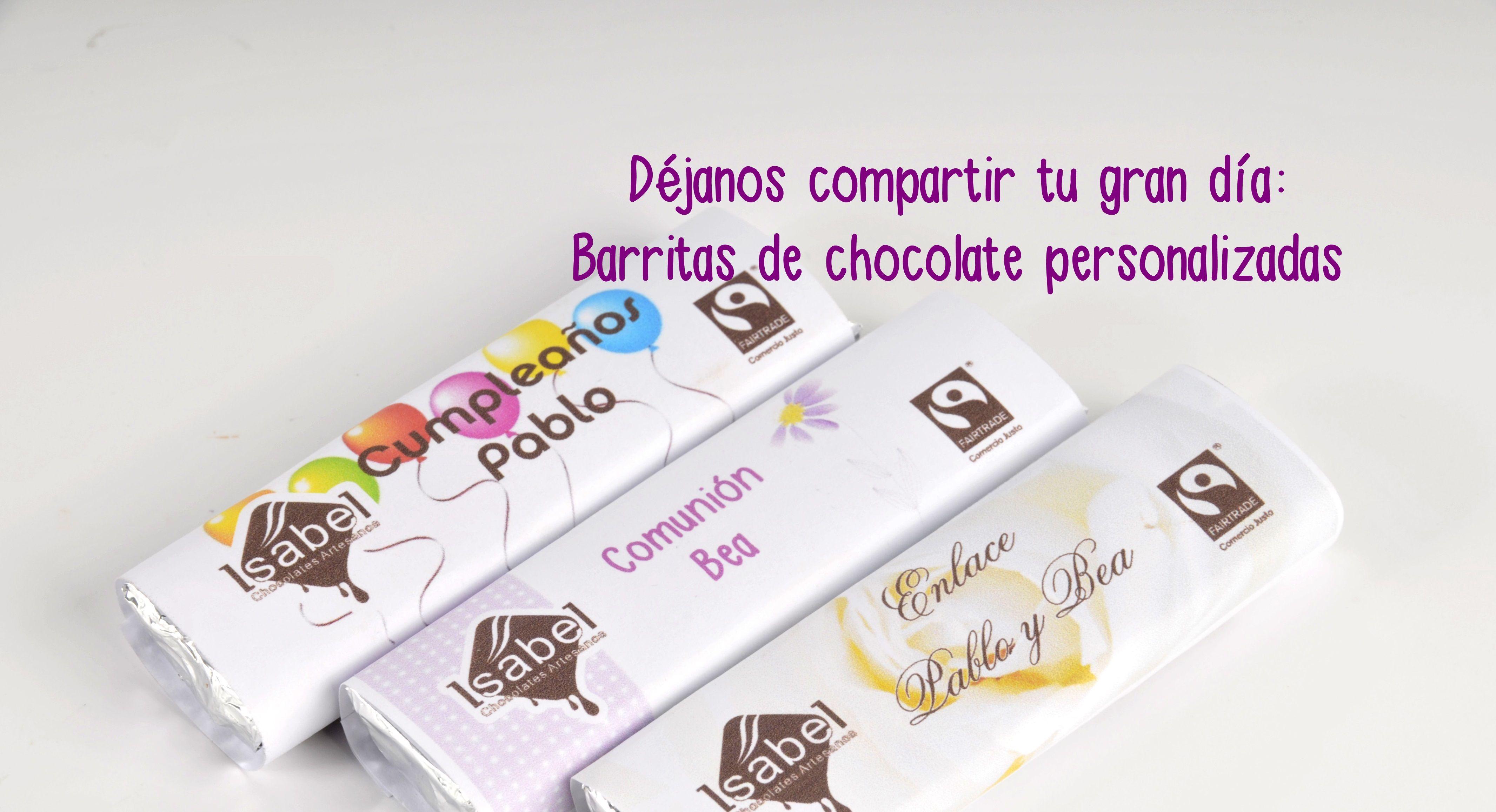 Chocolate personalizado solidario
