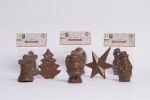 Figurita navideña de Chocolate con Leche BIO