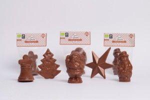 Figurita Navideña de Chocolate con Leche