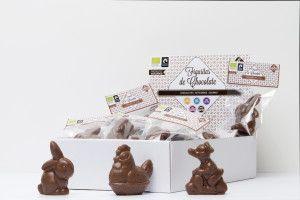 Figuritas de chocolate con leche, bio