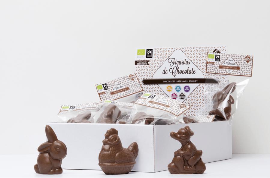 Figuritas de Pascua de chocolate bio