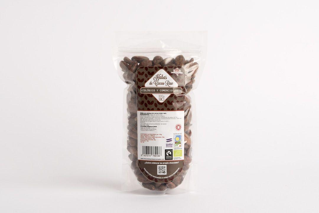 Habas de cacao crudo ecologico