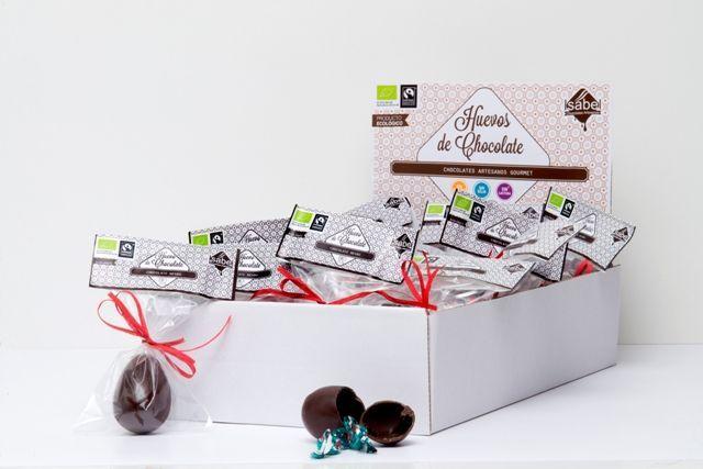 Huevos de Pascua de chocolate bio con sorpresa