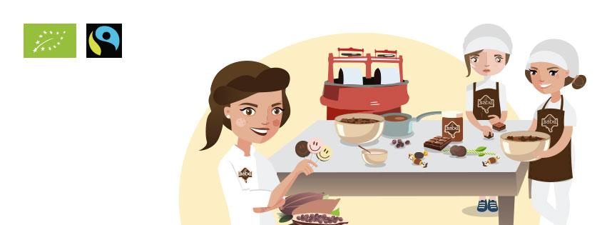 trabajando en nuestro obrador de chocolate artesano