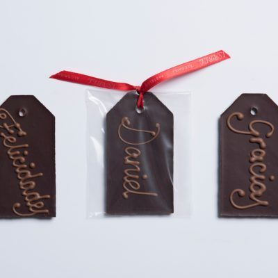 Tarjeta Cchocolate Negroy de Leche, Personalizada