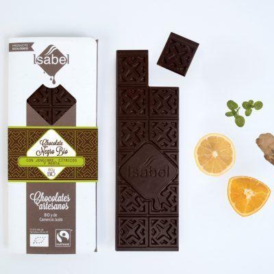 Chocolate Negro, Jengibre, Cítricos y Menta