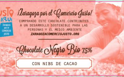 Nuestra tableta de chocolate exclusiva para la Federación Aragonesa de Solidaridad