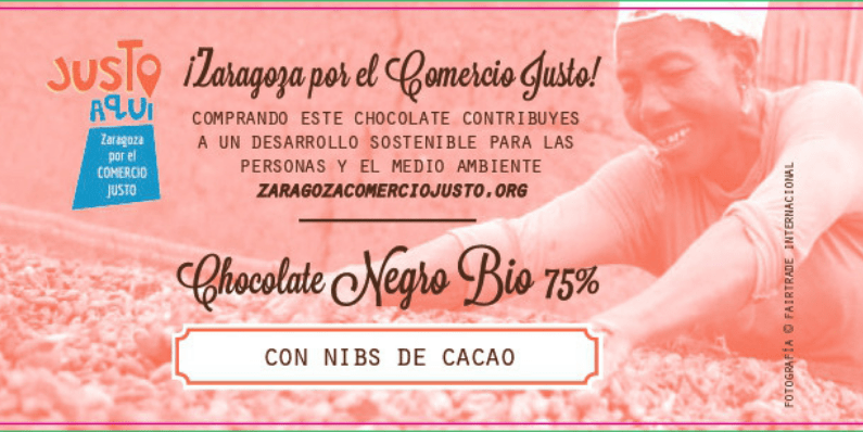 tableta de chocolate comercio justo FAS