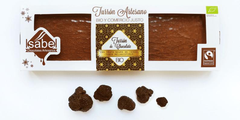 Nuevo turrón de chocolate con trufa negra de Teruel ecológica (Tuber Melanosporum)