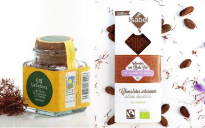 Azafrán ecológico de Teruel en nuestros chocolates