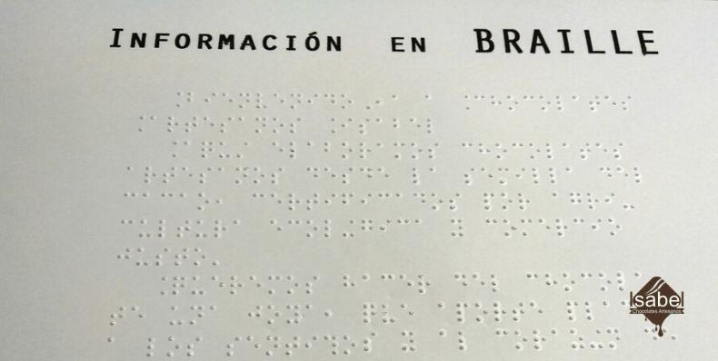 señalización en braille tienda alcorisa