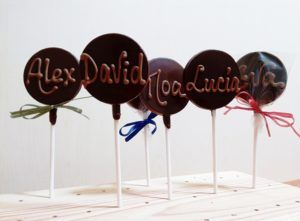 Piruleta de Chocolate Personalizada. chocolate gourmet
