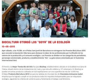 Premio al Mejor Producto BIO Biocultura