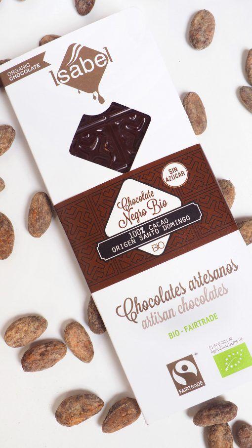 Tableta 100% Cacao Santo Domingo- BIO y Ecológica 3