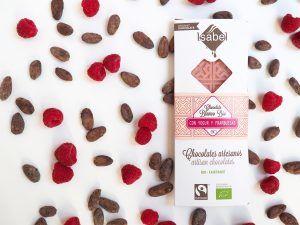 Tableta Chocolate Blanco, Yogur y Frambuesa - BIO y Ecológica 2