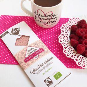 Tableta Chocolate Blanco, Yogur y Frambuesa - BIO y Ecológica 5