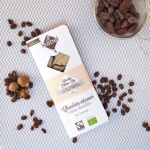 Tableta Chocolate Blanco con Cafe Arábica y Nuez Moscada- BIO y ECO 2