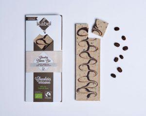 Tableta Chocolate Blanco con Cafe Arábica y Nuez Moscada- BIO y ECO 5