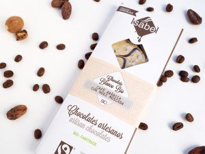 Tableta Chocolate Blanco con Cafe Arábica y Nuez Moscada- BIO y ECO 6