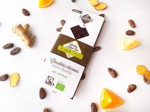 Tableta Chocolate Negro con Jengibre y Cíticos, ECO y BIO