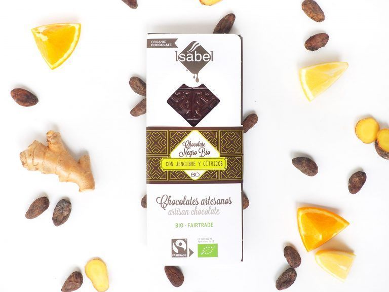 Tableta Chocolate Negro con Jengibre y Cíticos, ECO y BIO
