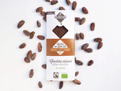 Tableta Chocolate con Leche 39% Cacao - BIO y ECO