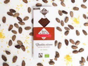 Tableta Chocolate con Leche con Petazetas de Limón - BIO y ECO
