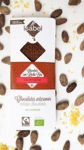 Tableta Chocolate con Leche con Petazetas de Limón - BIO y ECO 4