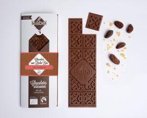 Tableta Chocolate con Leche con Petazetas de Limón - BIO y ECO 5