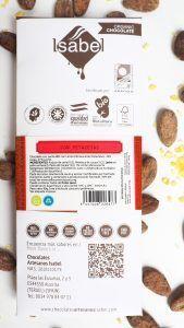 Tableta Chocolate con Leche con Petazetas de Limón - BIO y ECO 6