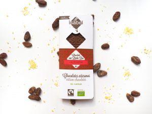 Tableta Chocolate con Leche y Petazetas de Limón BIO y FAIRTRADE