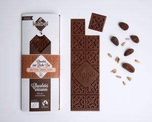 Tableta Chocolate con Leche y Pipas Caramelizadas - BIO y ECO 2