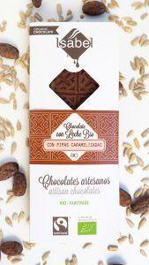 Tableta Chocolate con Leche y Pipas Caramelizadas - BIO y ECO 4