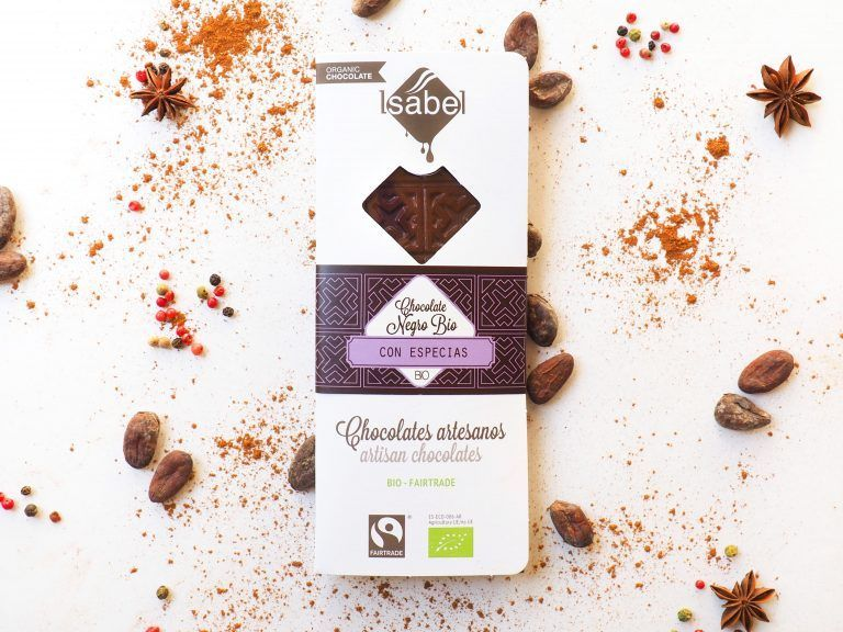 Tableta de Chocolate BIO Negro con Especias - FAIRTRADE