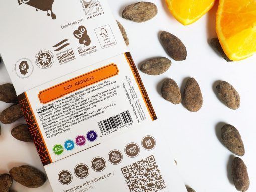 Tableta de Chocolate Negro con Naranaja -BIO y ECO 2