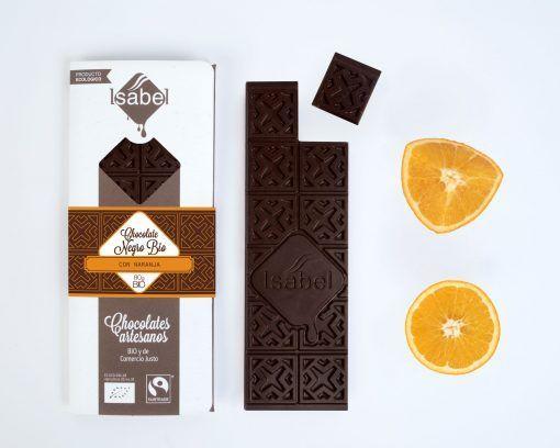 Tableta de Chocolate Negro con Naranja -BIO y ECO 4