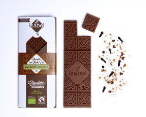 Tableta de Chocolate con Leche con Quinoa y Especias - ECO y BIO 5